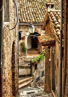 Narrow Stairs, Lazio, Italy