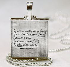 Break Free Quote Necklace LUP...Break Free by FanceeFreeDesigns, $9.95