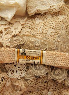 Vintage cream lace