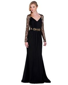Badgle Mischka otoño 2014 2015 Evening Gowns With Sleeves a7a16c48d