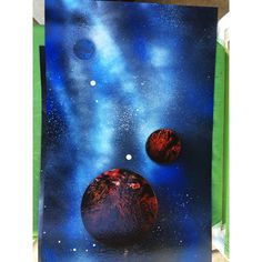 original spray paint artwork by shepardsketches #universe #galaxy #space #planets #stars