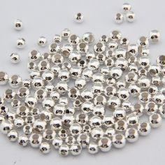 Aliexpress.com: Acheter 500 pcs/lot 2mm Argent Plaqué Rond Et Lisse Spacers boule Perles DIY faire pour bijoux collier bracelet de perlé collier de mode fiable fournisseurs sur RUI LONG NEW CENTURY JEWELRY