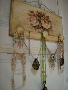 Romantikus vintage ékszertartó Eradekor kézművestől