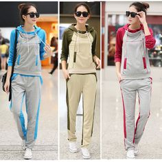Women's Sport suits Running Jogging Tracksuit Hooded Sweat  + Long Pant Casual  #Unbranded #TracksuitsSweats #Casual Mens Waist Bag, Long Pants, Jogging, Overalls, Comfy, Running, Sport, Suits, Best Deals