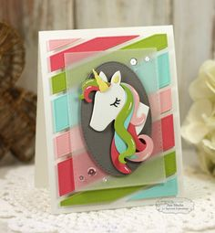 Magical Birthday by Jen Shults, handmade card using stamps and dies from Taylored Expressions. unicorn, girl birthday, handmade, cardstock,