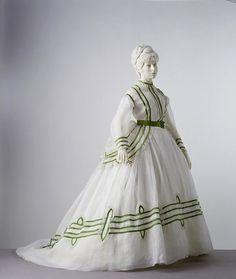 Dress ca. 1869 via The Vistoria & Albert Museum