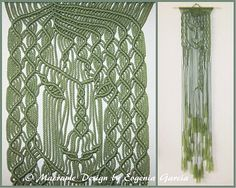Macrame Wall Hanging  Mermaid  Handmade Macrame Home
