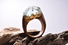 Incríveis mundos da fantasia embutidos em anéis de madeira e resina – Ideia Quente