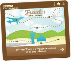 Games for Learning Languages. Learn French, German, Spanish and Italian with online language course. Flash based games based around a storyline.