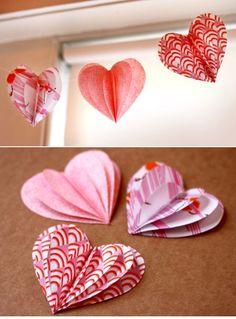 сердечки из бумаги своими руками