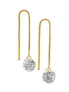 Es ist durchaus erlaubt, sich mal hängen zu lassen – aber nur mit unseren glänzenden Ohrringen! Der edle Kristall verleiht Ihrem Look den letzten Schliff!