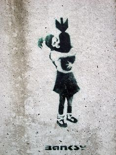 Check out photo bomb Hugger by Banksy or other photo prints from the collection street art. Decorative art photo prints for your interior. Banksy Graffiti, Arte Banksy, Banksy Work, Street Art Banksy, Bansky, Spray Paint Stencils, Stencil Painting, Spray Painting, Stenciling
