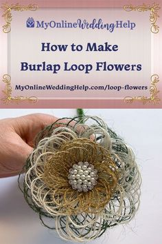 These simple DIY burlap fabric flowers are easy to make. The written tutorial and video explai. Burlap Flowers, Diy Flowers, Fabric Flowers, Flower Wreaths, Burlap Crafts, Fabric Crafts, Burlap Wreath, Simple Diy, Easy Diy