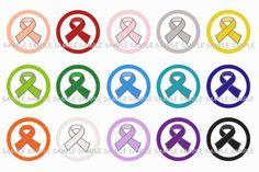 Awareness Ribbons Bottle Cap Images