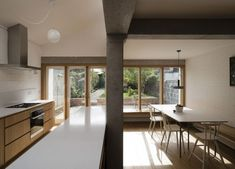 Ryan W. Kennihan Architects designed an extension and renovated a brick house in Dublin, connecting the existing and new sections via ingenious details and a clever use of materials.