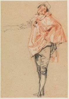 Study of a Standing Dancer with an Outstretched Arm, Jean-Antoine Watteau, about 1710. Museum Boijmans Van Beuningen
