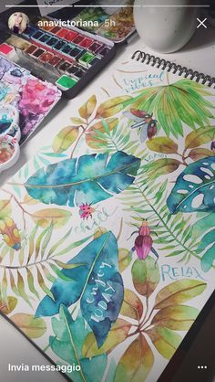 Drawing and Painting - DesignMatters TV Watercolor Leaves, Watercolor Sketch, Watercolor And Ink, Watercolor Illustration, Watercolour Painting, Painting & Drawing, Watercolors, Arte Sketchbook, Guache