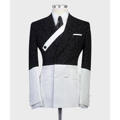 Mens Suit Fit, Mens White Suit, Mens Casual Suits, Black And White Suit, Slim Fit Suits, Suit Up, White Suits, Stylish Mens Outfits, Mens Suits