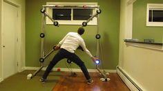 Incredible machine to practice hand-eye coordination!