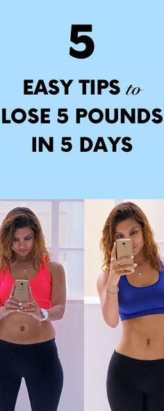 5 Easy Tips to Lose 5 Pounds in 5 Days