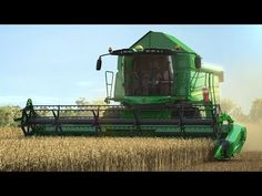 John Deere - Série W - animation John Deere Tractors, Animation, Agriculture, Farms, Techno, Harvest, Ranch, Youtube, Motorcycles