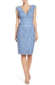 Tadashi Shoji Embroidered Lace Sheath Dress (Regular & Petite) available at #Nordstrom