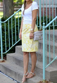 Lilly Style: dressed down pencil skirt