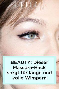 Beauty-Tipp: Es gibt einen Mascara-Hack, der für längere und vollere Wimpern sorgt. Wie er funktioniert, zeigen wir im Elle-Video!