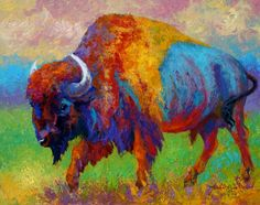 A Journey Still Unknown - Bison Canvas Print / Canvas Art by Marion Rose