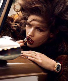 """""""L'Heure Du Départ"""" Kendra Spears by Lachlan Bailey Vogue Paris, November 2012"""