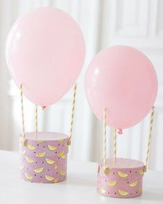Three straws, one balloon - one hot air balloon! A ready-made gift packaging . - Three straws, one balloon – one hot air balloon! A ready-made gift packaging for children& - Diy Birthday, Birthday Gifts, Happy Birthday, Balloon Birthday, Birthday Ideas, One Balloon, Hot Air Balloon, Balloon Box, Air Ballon