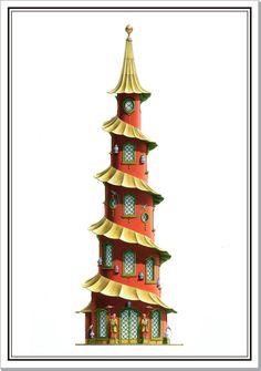 Red Pagoda, fantasy design