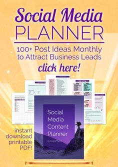 2017 Social Media Content Planner has everything you need to plan a successful year!