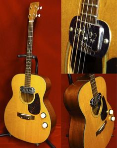 Martin 0-18TE (1959 ) : Tenor guitar. Just one was made with Di Armond magnetic pickup in this year