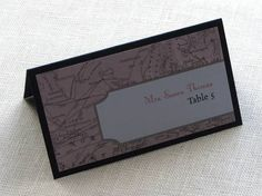 table cards for weddings map