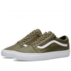 c89d67d941d172 Buy the Vans Old Skool Zip Antique in Ivy Green from leading mens fashion  retailer END.
