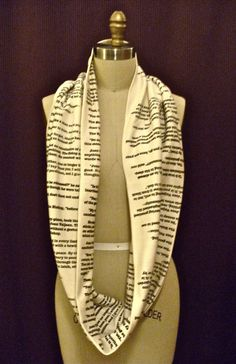 Les Miserables Book Scarf by storiarts on Etsy, $42.00 wow