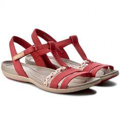 Sandály CLARKS - Tealite Grace 261238924 Red Nubuck