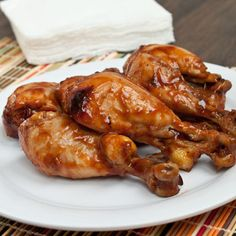 Place chicken in crock pot and pour about a cup of BBQ sauce over the chicken. Cover and cook on high for hours if using thawed chicken, and hours if using frozen. by jenamedee Read Slow Cooker Recipes, Crockpot Recipes, Cooking Recipes, Vegan Recipes, Rib Recipes, Chicken Drumstick Recipes, Chicken Recipes, Bbq Chicken Drumsticks, Boiled Chicken