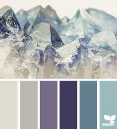 Wardrobe coordination - Purples/Grays/Blues