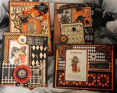 Gina's Designs: Halloween cards using Gina's Designs Freebie Friday printables