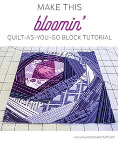 Quilt-As-You-Go is so much more than just log cabins! Try this new technique for…
