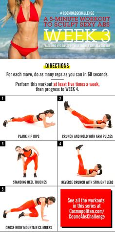 Real talk: It takes more than a couple o' crunches to sculpt a rock-solid stomach. But you can give your belly some sexy definition without quitting your day job. All it takes is five minutes a day and this efficient fitness plan.
