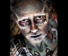 zombie tears make up halloween face