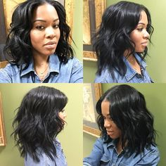 Simply Sexy Loose Wave Long Bob with middle part! #haircut #naturalhair #wavyhair #longbob #thecutlife #salonchristol