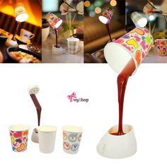 Luminária super criativa! ☕️💡💕 Garanta a sua em: www.ivyshop.com.br   #luminária #café #abajur #criativos #presentescriativos #produtoscriativos #casa #decoração #presentes #fundesign #enxoval #fofurice #comprinhas