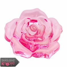 exklusive-knoepfe.de - Rosenblüte durchsichtig - ein perfektes Schmuckstück in Rosa