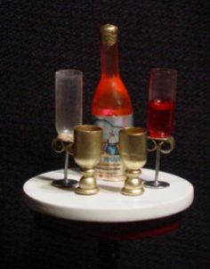 How To Make Miniature Goblets and Wine Glasses For Your Dollhouse this photo no site
