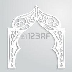 Abstract background with paper arch in the Asian style Stock Vector