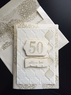 50th anniversary using mosaics by stampin up